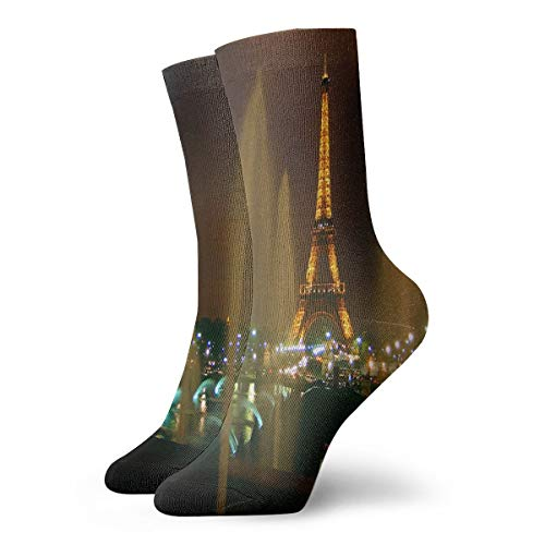 Crew Socks from Paris with Love Great Mens Casual Stocking Decor Sock Clearance for Teens ()