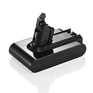 powerextra 21 6v 2 2ah li ion battery for dyson v6 dc58 dc61 dc62 animal handheld replacement. Black Bedroom Furniture Sets. Home Design Ideas