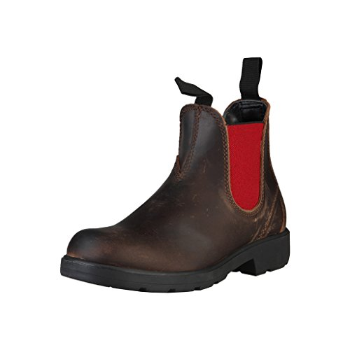 Red Italia Shoes In Brownish Black Made Chelsea Boots Women's xUBUwP8