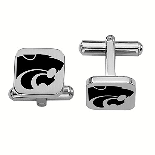 College Jewelry Kansas State University Wildcats Stainless Steel Square Cufflinks ()