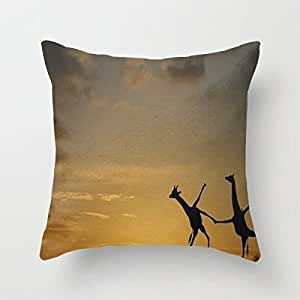Oldesign Shop Pattern Design Throw Pillow Case Sham Decor Cushion Covers Square 16*16 Inch Cotton Pillow Cover