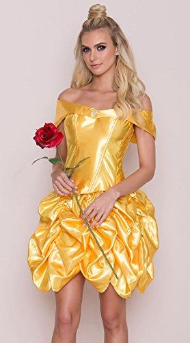 Roma Costume Women's 2 Piece Foxy Fairytale Cutie, Yellow, Small