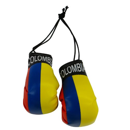 Colombia Country Flag Mini Boxing Gloves to Hang Over Your Automobile Mirror ... (Colombia Car)