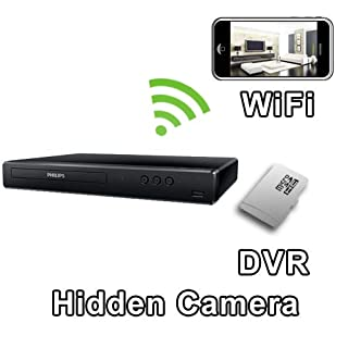 PalmVID WiFi DVD Blu Ray Player Hidden Camera Spy Camera with Live Video Viewing