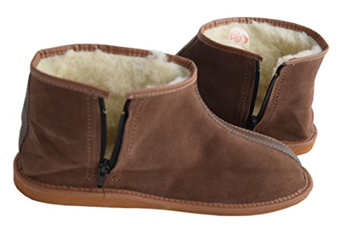 Uomo Unisex Brown Adulti Stivali Donna Larga Slippers Natleat A Suede Gamba gfYw8qvx