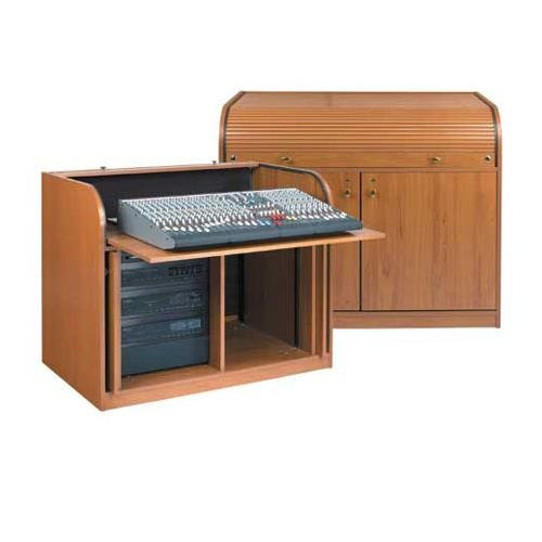 Elite Roll Top Desk with Seating Cutout Finish: Cherry