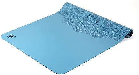 Travel Yoga Mat – Lightweight, Foldable and Non Slip Sticky – Made from The Best Natural Rubber Ultra Thin – Great for Hot Yoga Bikram, Pilates and Exercise Includes Carry Bag