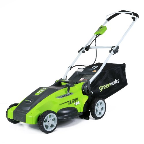 Greenworks 16-Inch 10 Amp Corded Electric Lawn Mower 25142 (Best Wide Cut Lawn Mowers)
