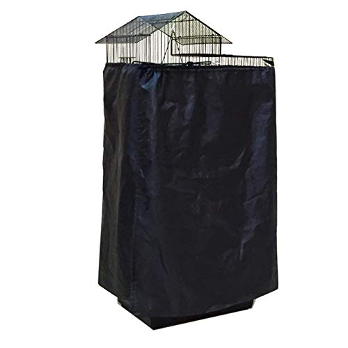 Alfie Pet – Zouey Bird Polyester Cage Cover – Color: Black