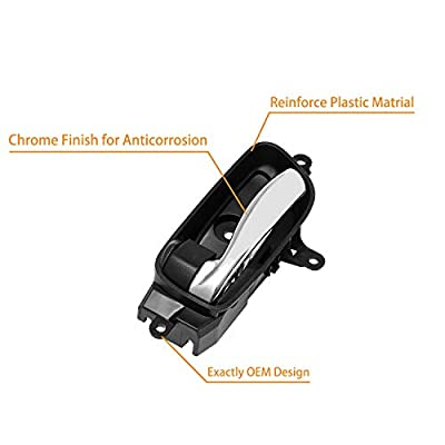 Interior Door Handle Front Rear Left Driver Side | for 2013-2020 Nissan Altima Pathfinder, 2015 2020 Nissan Titan, 2016-2020 Titan XD, 2015-2020 Nissan Murano | Replaces# 80671-3TA0D, 80671-3TA0A: Automotive