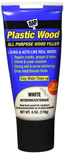 - BANZ 00585 DAP Latex 6oz, White All Purpose Plastic Wood Filler, 6 oz