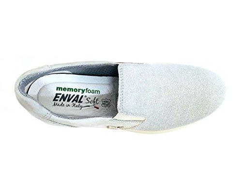 Donna Morbide Pearl Basse Mocassini Scarpe Nabuk Scarpe Silver 1270711 Enval BwOUPw