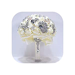 Magic Day 14 Colors Wedding Bouquets Flowers Bridal Bouquets Artificial Wedding Bouquet Crystal Sparkle,Color as picture10 104