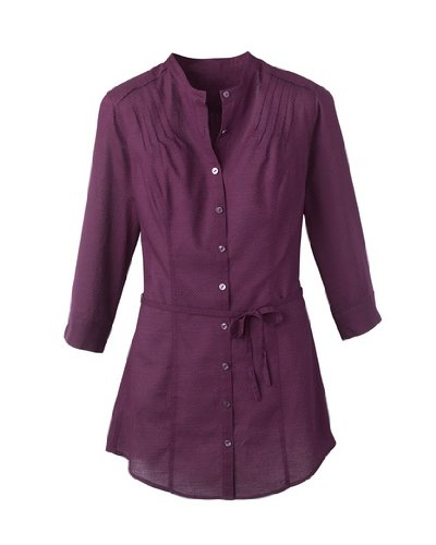 coldwater-creek-3-4-sleeve-textured-shirt-purple-extra-small-4