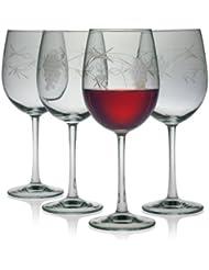 3a527c13668 Susquehanna Glass Sonoma Grape Pattern Cut Glass Wine Glasses, Set of 4, 16  ounces