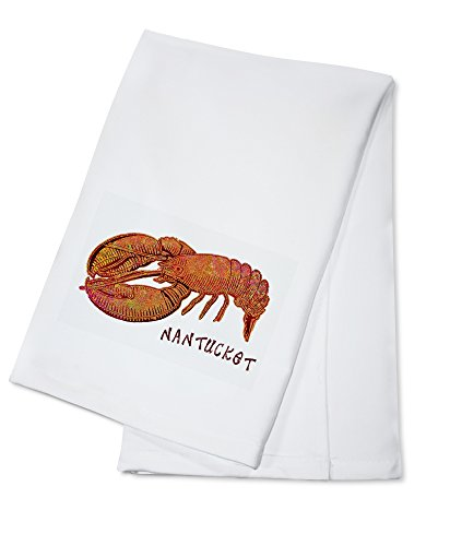 Nantucket - Massachusetts - Lobster (100% Cotton Kitchen Towel) (Nantucket Bath Towel)