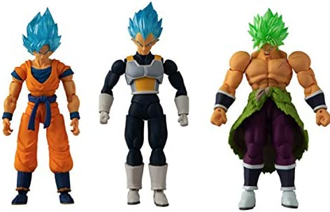 BANDAI 85819 Dragon Ball-12cm Evolve Figure Triple Pack Broly ...