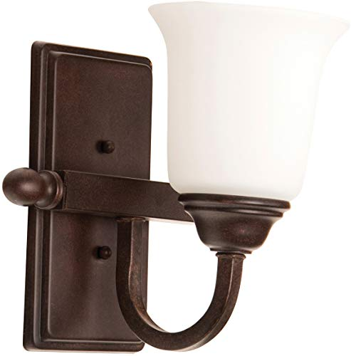 Craftmade 15209AG1-WG Madison Antique Wall Sconce Lighting, 1-Light, 100 Watts, Aged Bronze Textured (9