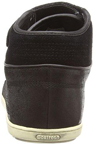 Boxfresh Swich Blok - zapatillas altas de otra piel hombre negro - negro