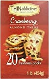 Thin Addictives Cranberry Almond Thins 20 Freshness Packs 1 Lb. Pack of 2)