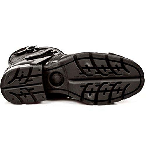 Rock Style Stiefel Stahl M Absätze Schwarz MR004 NEWROCK New Herren S1 twEq5nP