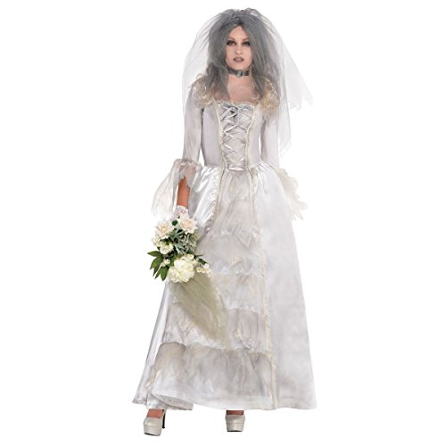 [Ghost Bride Adult Costume - Plus Size 2X] (Adult Ghost Groom Costumes)
