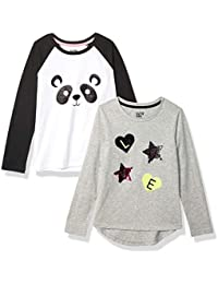 Girl's 2-Pack Long-Sleeve Novelty T-Shirts