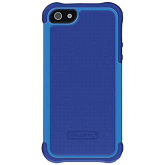 Ballistic SG0926-M775 Screen Guard Case for iPhone 5 - 1 Pack - Retail Packaging - Navy Blue/Cobalt