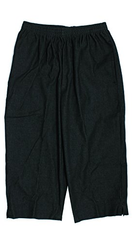 Alfred Dunner Denim Capri Pants, Black, 14