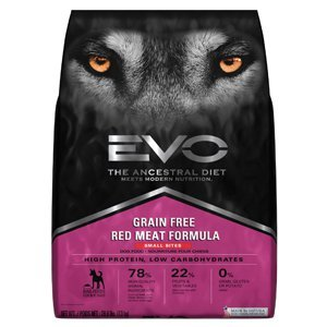 Bites Red Meat Formula (EVO Red Meat Small Bite Dry Dog Food)