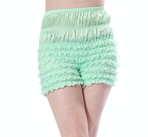 Malco Modes Womens Sexy Ruffle Panties Tanga Dance Bloomers Sissy Booty Shorts (Light Green, X-Small) by Malco Modes