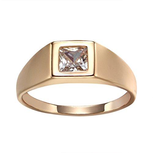 Romantic Time Children Kids 18k Rose Gold Plated Diamond Love Friendly Birthday Ring (2.5) Birthday Boy Ring