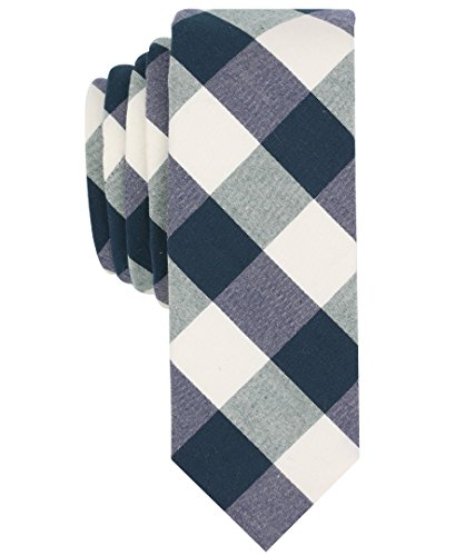 Original Penguin Men's Park Check Tie, Green, One (Original Penguin Check)