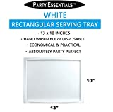 "Party Essentials Plastic 13"" x 10"" Rectangular"