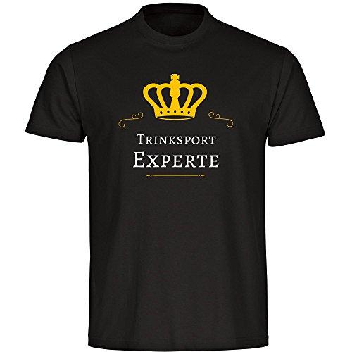 T-Shirt Trinksport Experte schwarz Herren Gr. S bis 5XL
