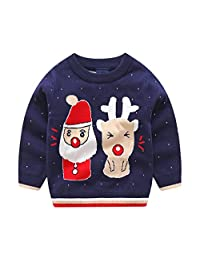Mornyray Kids Little Boys Girls Pullover Sweater Ugly Pattern Long Sleeve Top