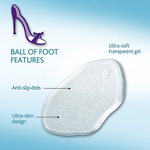 Amope Gelactiv Ultra Slanke Bal Van Voet Inlegzolen Voor Dames, 1 Paar, Maat 5-10