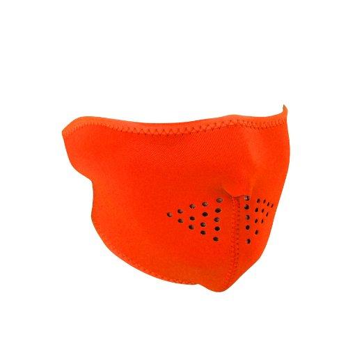 Zanheadgear WNFM142H Neoprene Half Face Mask, High-Visibility Orange