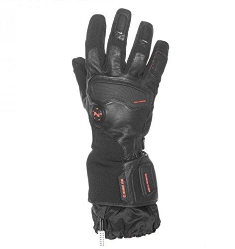 Black Heated Glove - Mobile Warming Unisex-Adult Barra Leather/Textile Heated 12v Gloves (Black, Large)