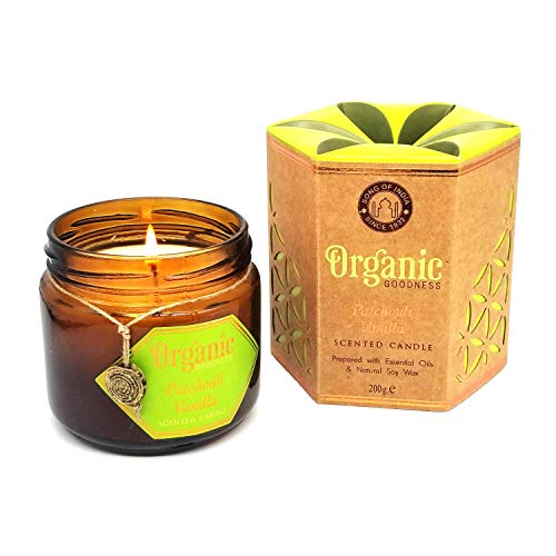 Song of india Patchouli Vanilla Creamy Organic Soy Wax & Beeswax Candle