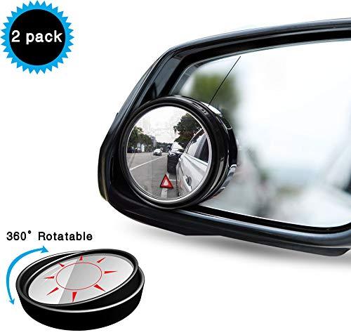 Uni-Fine 2 piezas Blind Spot Espejo Espejo de Punto Muerto Rotacion de 360° Retrovisores de angulo Muerto Espejo de Punto Ciego Convexo de Gran Angular Ajustable para Automoviles, SUV, Motocicletas