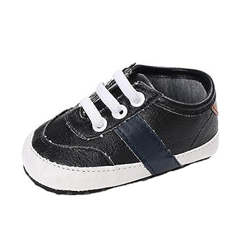 8affb4f736133 Chaussures de bébé Auxma Chaussures bébé garçon à semelle souple  anti-dérapante Chaussures enfant en