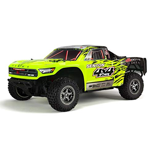 ARRMA 1/10 SENTON 4X4 3S BLX Brushless 4WD RC Short Course Truck RTR with 2.4GHz Radio (Battery Not Included), Green/Black (ARA102721T1)