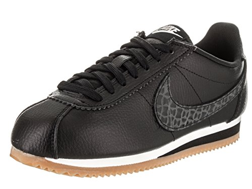 Nike Women's Classic Cortez Leather Lux Black Sneakers 861660-004 (Large Image)