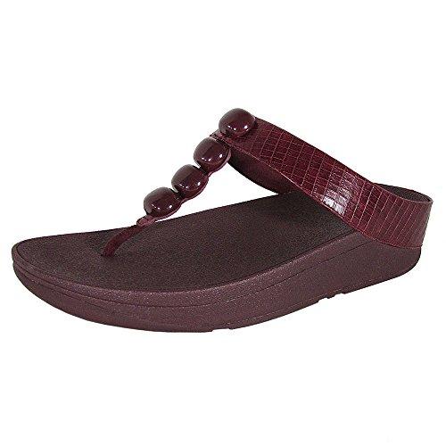 23fc6f26ee9 FitFlop Women s Rola™ Toe-Post Leather Flip Flop Deep Plum - Buy Online in  UAE.