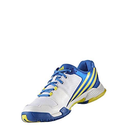 adidas Volley Team 4 - Zapatillas de voleybol para Hombre, Blanco - (FTWBLA/AMABRI/AZUL) 47 1/3