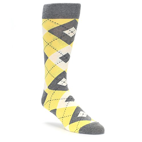 statement-sockwear-mens-argyle-groomsmen-wedding-socks-sunbeam-yellow-gray