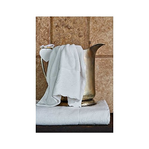 Serra Home Hotel & Spa Saville offwhite towels 85X150 Soft Turkish Cotton Hand-Face Towel, Machine Washable Luxury Bath Sheet (Saville Bath)