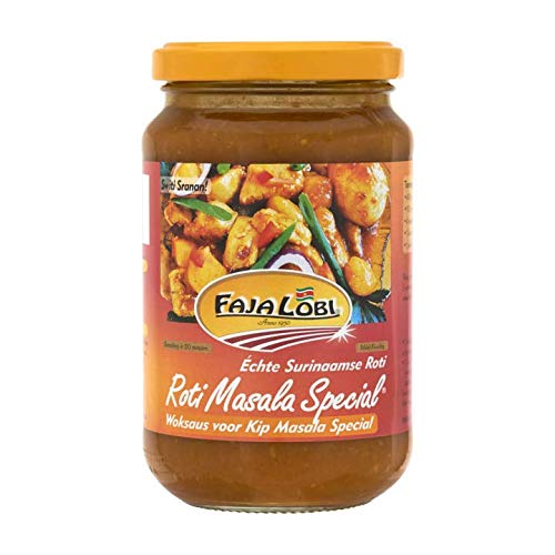 Surinam Roti paste | Faja Lobi | Roti Masala Special Wok sauce for Chicken Masala Special 360ml | Total Weight 12.7 ounce ()