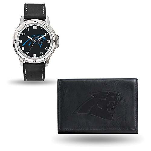 NFL Carolina Panthers Leather Watch/Wallet Set by Rico ()